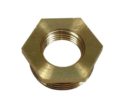 1 Inch x 1/2 Inch BSP Brass Hex Bush
