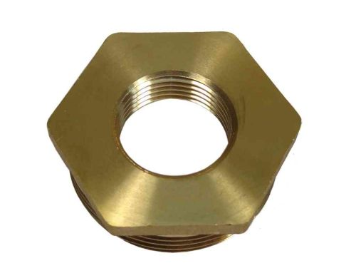 1-1/2 Inch x 3/4 Inch BSP Brass Hex Bush