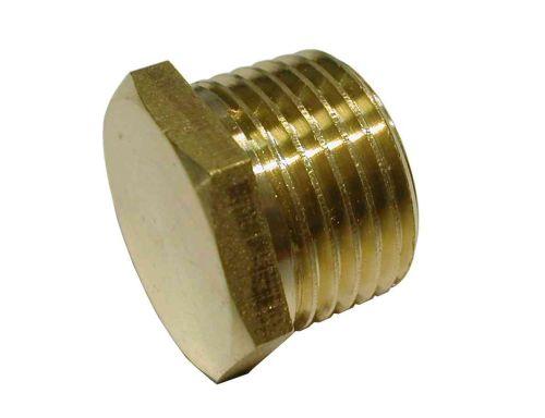 1/2 Inch BSP Brass Plain Plug