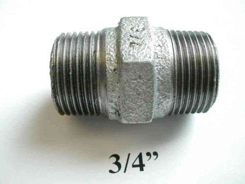 3/4 Inch BSP Galvanised Iron Hex Nipple