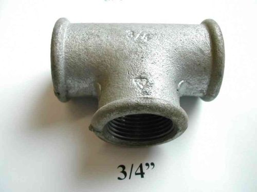 "3/4"" BSP Galvanised Iron Equal Tee"