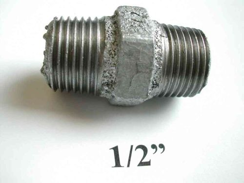 1/2 Inch BSP Galvanised Iron Hex Nipple