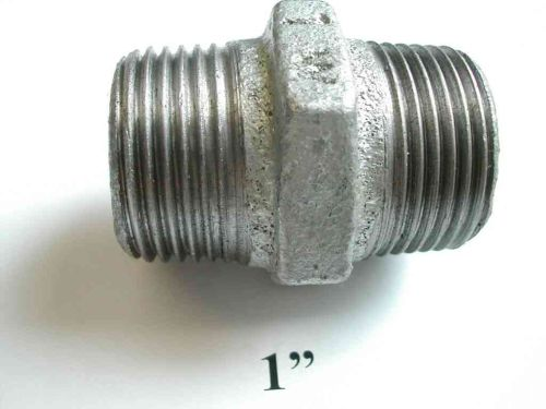 "1"" BSP Galvanised Iron Hex Nipple"