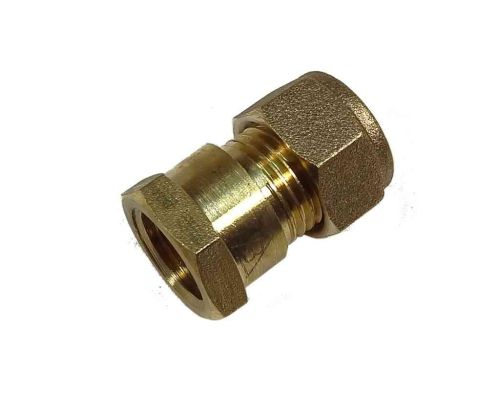 "10mm Compression x 1/4"" BSP Female Iron Straight Adaptor"
