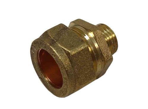 15mm Compression x 1/4 Inch BSP Male Adaptor / Coupler