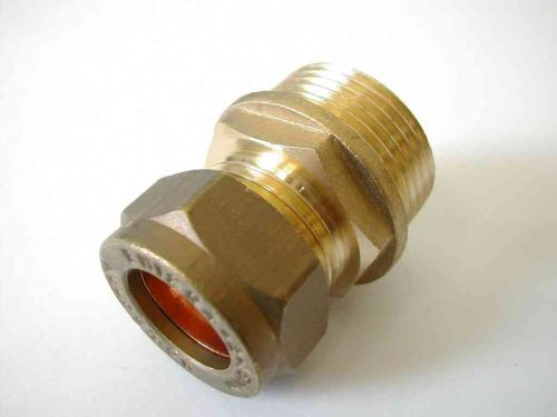 15mm Compression x 3/4 Inch BSP Male Iron Adaptor / Coupler