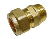 15mm Compression x 1/2 Inch BSP Male Iron Adaptor / Coupler