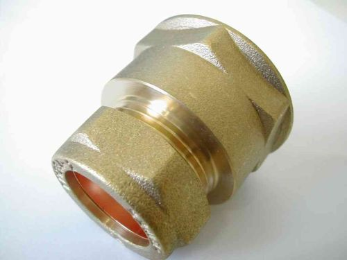 22mm Compression x 1 Inch BSP Female Iron Adaptor / Coupler