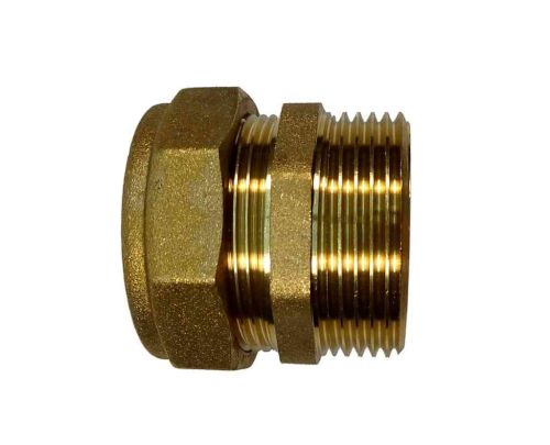 35mm Compression x 1-1/4 Inch BSP Male Iron Straight Adaptor