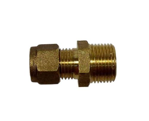 "8mm Compression x 3/8"" BSP Male Iron Straight Adaptor"