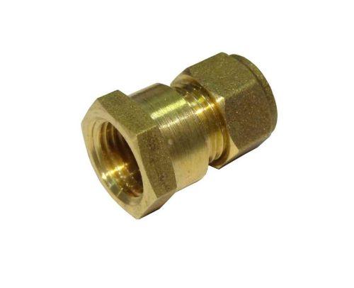 "8mm Compression x 1/4"" BSP Female Iron Straight Adaptor"