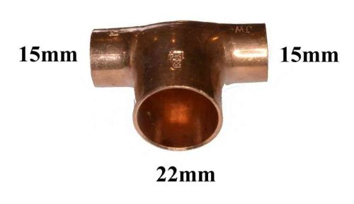 15mm x 15mm x 22mm End Feed Tee