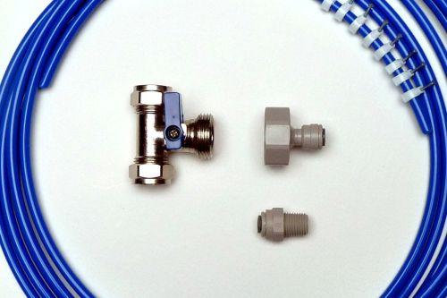 Fridge Plumbing Kit | 4M Pipe, Tee Valve, Adaptor, Fridge Connector