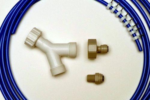 Fridge Plumbing Kit | 10M Pipe, Y Splitter, Adaptor, Fridge Connector