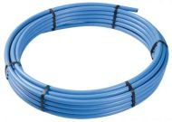 Blue MDPE Water Pipe 20mm x 25m Coil