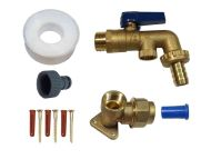 Brass Lever Outside Tap Kit For 20mm MDPE Pipe With DCV