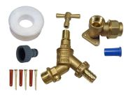 Lockshield Outside Tap Kit For 20mm MDPE Pipe With DCV
