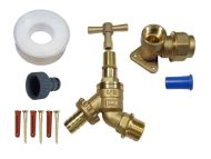 Lockshield Outside Tap Kit For 20mm MDPE Pipe