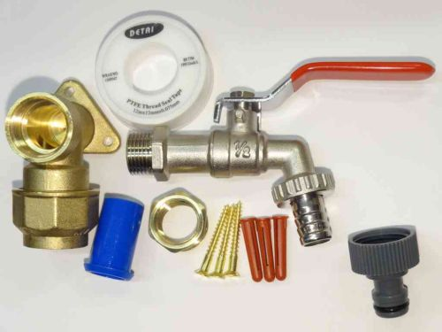 Lever Outside Tap Kit For 25mm MDPE Pipe