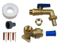 Brass Lever Outside Tap Kit For 25mm MDPE Pipe