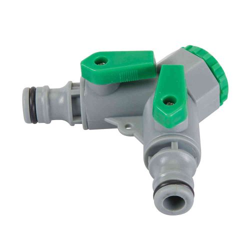 2 Way Outside Tap Connector With Valves