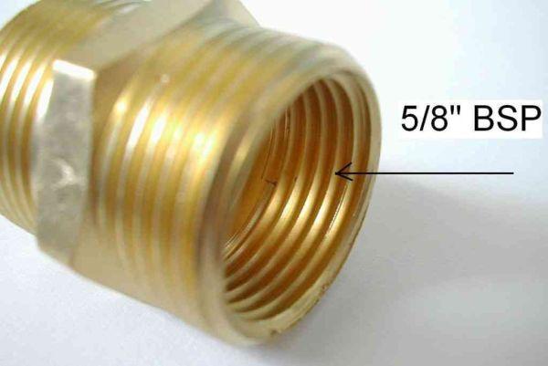 3 4 X 5 8 X 1 2 Inch Bsp Outside Tap Thread Adaptor