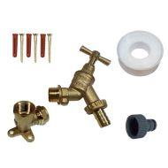 Double Check Valve Outside Tap Kit With 15mm Wall Plate Elbow