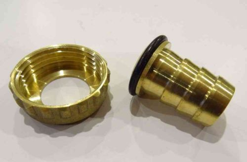 Brass Outside Tap Hose Union Nut and Tail