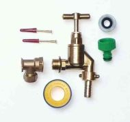 Heavy Duty Outside Tap Kit With 15mm Wall Plate Elbow