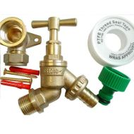 Outside Tap Kit With 15mm Wall Plate Elbow & Garden Hose Fitting