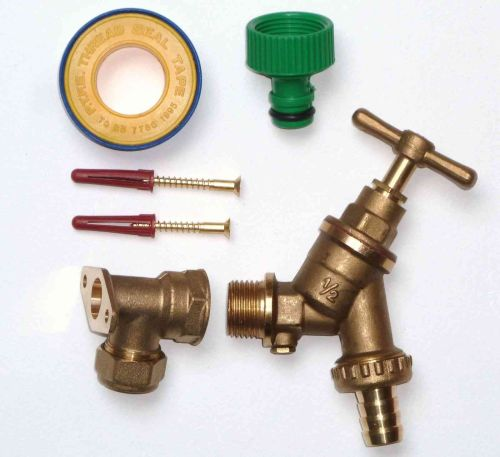 Outside Tap Kit With Wall Plate Elbow & DCV