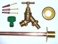 Outside Tap Kit With Through Wall Back Plate & DCV