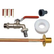 Lever Outside Tap Kit With Through Wall Pipe / Flange
