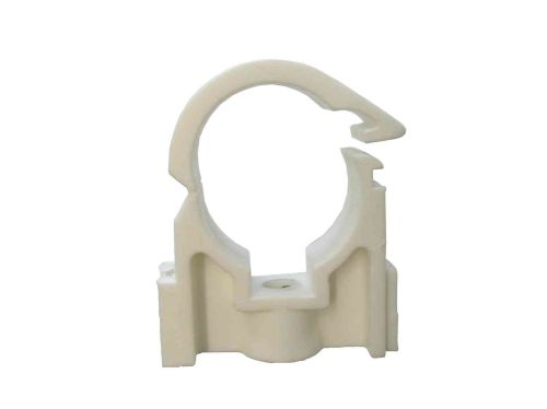 Wrap Over Hinged Plastic Pipe Clip 22mm