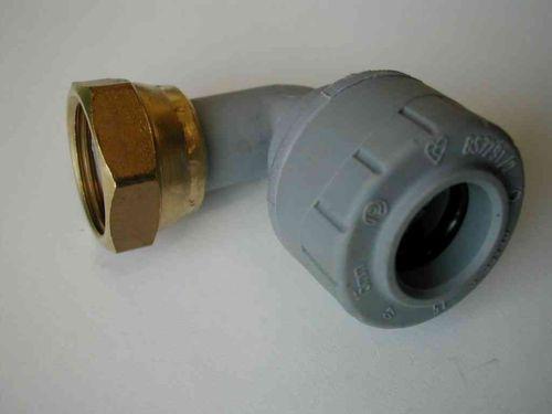 "15mm x 1/2"" Polyplumb Elbow Tap Connector PB1715"