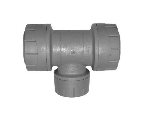 Polyplumb Reducing Tee 22mm x 22mm x 15mm | PB1122