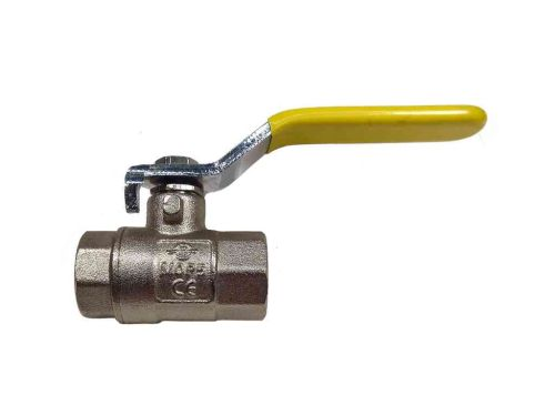 "1/4"" BSP Lever Ball Isolation Valve With Yellow Handle"