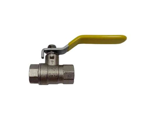 """3/8"""" BSP Lever Ball Valve With Yellow Handle"""