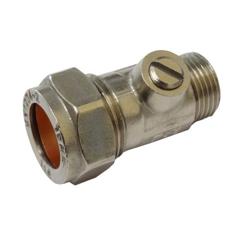 "Flat Faced Isolation Valve 15mm x 3/8"" BSP"