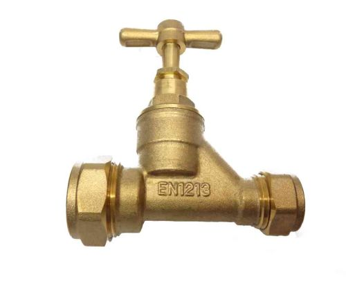 20mm MDPE x 15mm Copper Stopcock Valve