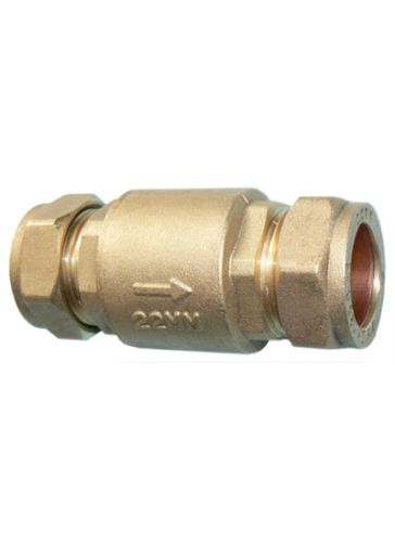 Full Flow Single Check Valve 22mm
