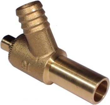 Long Tail Drain Off Cock Valve Type A 15mm