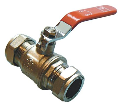 15mm Lever Ball Valve | Red Handle