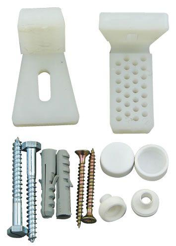 Toilet Pan / Bidet Angled Floor Bracket Fixing Kit