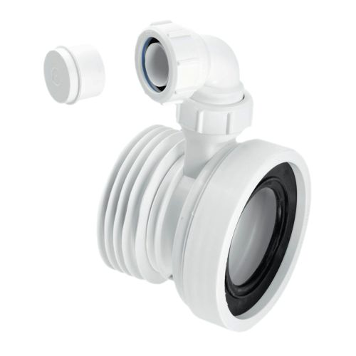 Straight Toilet Pan Connector With Basin Branch