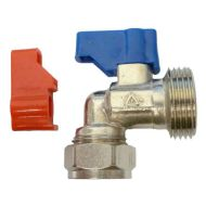 Washing Machine Angled Valve | 15mm x 3/4""