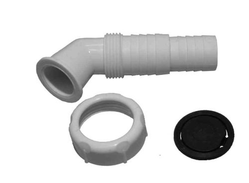 "Washing Machine Drain Hose Connector Nozzle | 1"" BSP Angled"