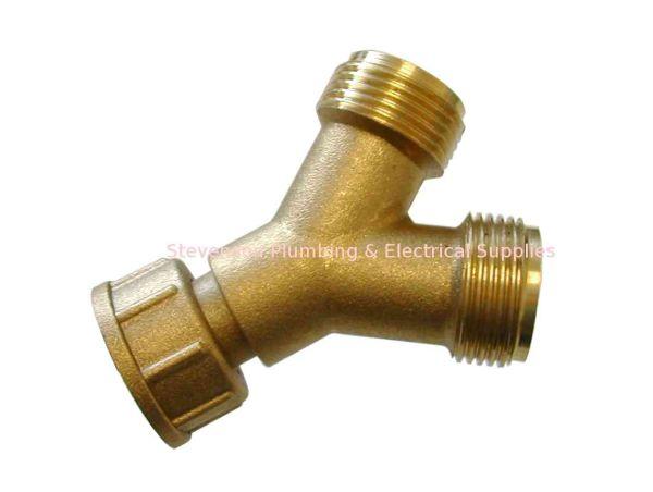 Brass Washing Machine Y Piece Union Type Stevenson