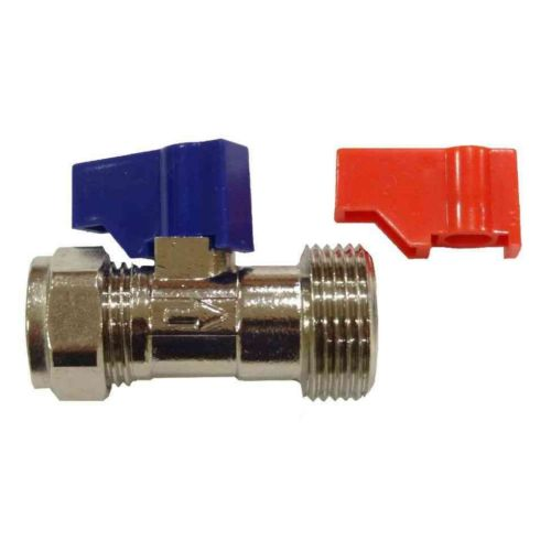 "Washing Machine Valve With Check Valve | 15mm x 3/4"" BSP"