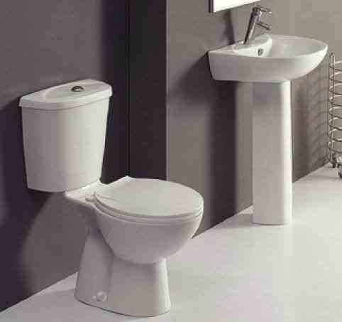 Cloakroom Suite | Pan Cistern Seat Basin Pedestal